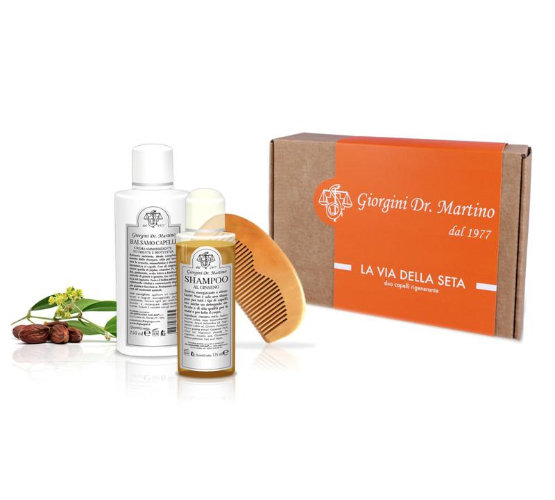 Dr. Giorgini Gift Box n°4  LA VIA DELLA SETA Duo capelli rigenerante.  Pensato per chi non vuole perdere la testa durante le feste. 76fa460d9c53